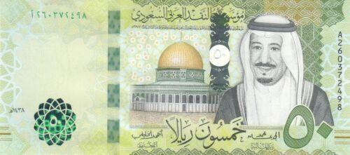 SAUDI ARABIA 50 RIYAL 2017 P- 40 KING SALMAN UNC  */*