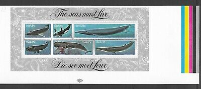 South West Africa/ Namibia Proof 1980 Whales Mini Sheet