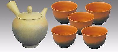 Japanese Kyusu Teaset  - KOJI - Dawning 1pot & 5chawan cups