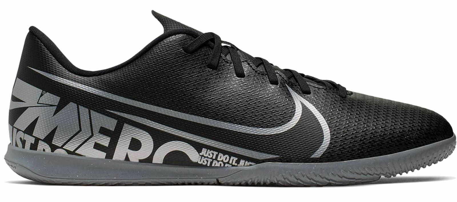 Nike Herren Hallenschuhe Fussballschuhe Nike Vapor 13 Club IC schwarz grau