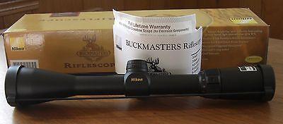 NEW Nikon Buckmaster Rifle Scope 3-9x40 BDC Reticle Deer Hunting Riflescope 6421