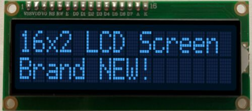 16x2 White on Blue Character with Backlight LCD Screen