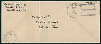 Mayfairstamps Habana 1943 US Navy Signed Censor College Book Free Cover wwo_5826