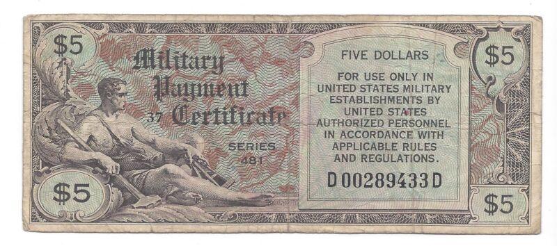 MPC Series 481  $5 Dollars 1st Printing Fine