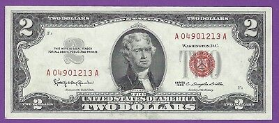 2 00 United States Note   1963   Granahan Dillon   A04901213a