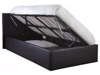 Brand new unused Brown Faux Leather King Size Ottoman Storage Bed