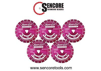 Husqvarna Excel 1000 13.5 Purple Soff Cut Ultra Early Entry Diamond Blade 5pk