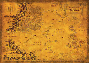Lord-Of-The-Rings-ROHAN-MAP-Large-Poster-various-sizes