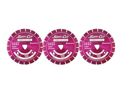 Husqvarna Excel 1000 8 Purple Soff Cut Ultra Early Entry Diamond Blade 3pk