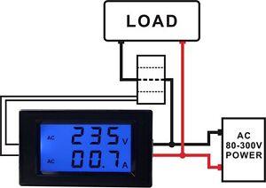 D85-2042A-AC-80-300V-100A-Dual-Display-LED-Volt-Amp-Meter-Current-Transformer