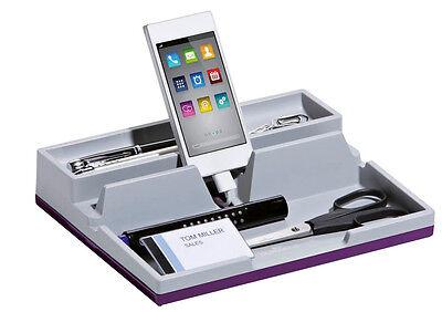 DURABLE Schreibtisch-Organizer VARICOLOR® SMART OFFICE grau/lila