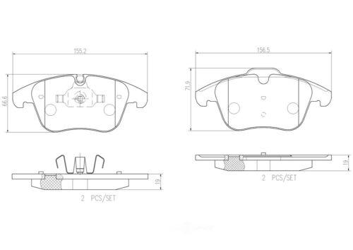 Disc Brake Pad Set-Premium NAO Ceramic OE Equivalent Pad Front Brembo P56065N