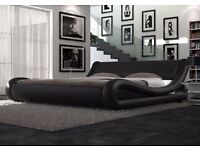 **FREE UK DELIVERY** Amari Italian Style Leather Bed and Memory Mattress- LIMITED OFFER!