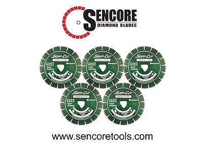 Husqvarna Excel 2000 6 Green Soff Cut Ultra Early Entry Diamond Blade 5pk