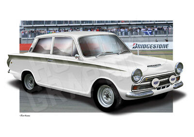 FORD CORTINA MK1 PRINT - PERSONALISED ILLUSTRATION OF YOUR CAR