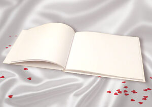 Plain Blank White Linen Guest Book DIY Wedding Guest FREE Guestbook Sign