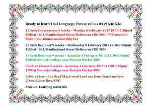 Learn Thai Language in Melbourne City Melbourne CBD Melbourne City Preview