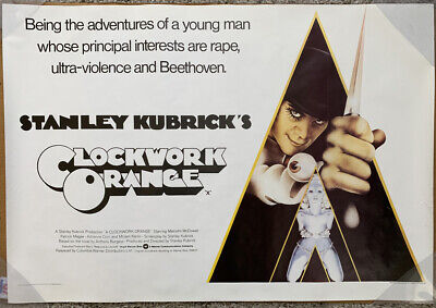 A CLOCKWORK ORANGE MOVIE POSTER ORIGINAL INTL 39 1/2 x 27 1/2 STANLEY KUBRICK