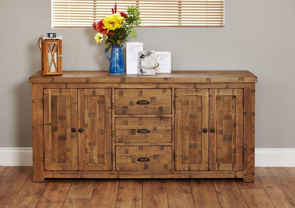 Shipton Rustic Extra Large Oak Sideboard In Hounslow London