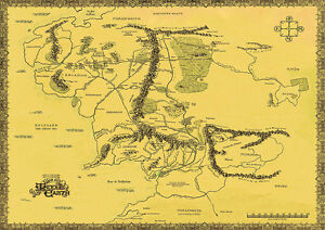 Lord-Of-The-Rings-Hobbit-War-in-Middle-Earth-Map-Big-Poster-various-sizes