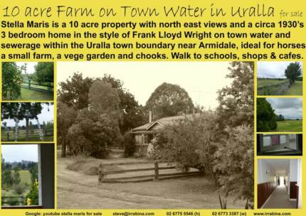 Location is Everything! 10 acre farm + house on town water Uralla