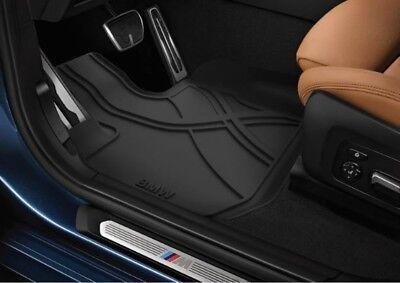 BMW OEM Black All Weather Floor LINERS Set 2018 2019 X3 30iX M40iX 82112457987