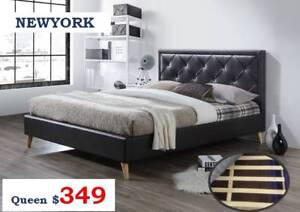 New Quality Bed Frames | Timber/Fabric/Leather - STOCKTAKE SALE