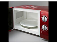 Red Microwave never used