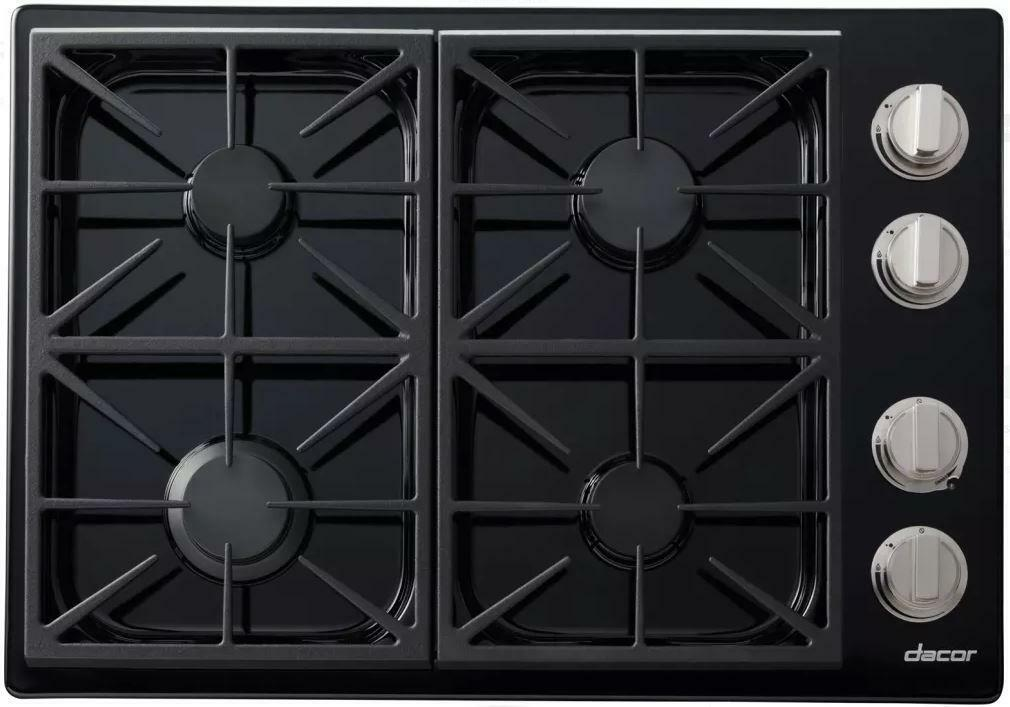 DACOR 30 Inch Continuous Grates 4 Sealed Burners Gas Cooktop