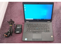 Dell E7470. Core i5-6300u, 8GB Ram, 256GB SSD, WIndows 10, Wifi, HDMI, Webcam, Fingerprint Reader