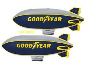 Lot-of-2-Goodyear-Inflatable-33-BLIMP-LOT-NASCAR-Scalextrix-or-Lionel-Display