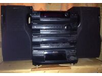 Sony Compact Hi-Fi Stereo System and twin Sony Speakers