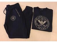 Navy Blue Full Skinny Fit Tracksuit Brand New M