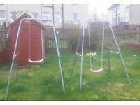 Child's garden swing x 2.
