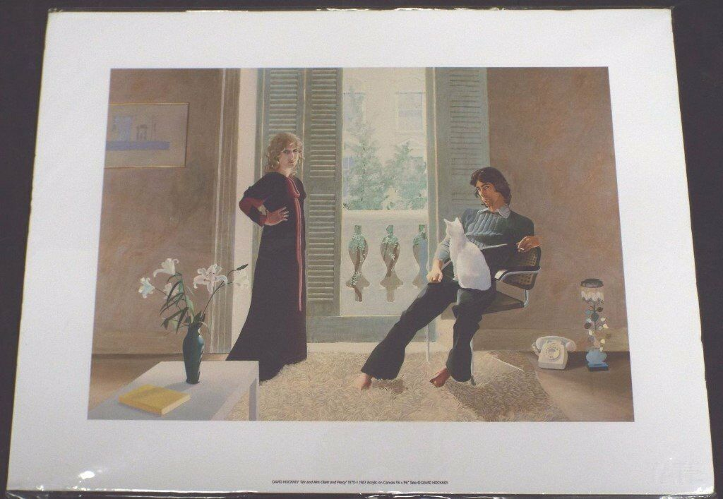 "DAVID HOCKNEY ""Mr & Mrs Clark And Percy"