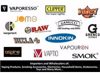 E-Cigarette Cig Wholesaler – Smok, Innokin, Aspire, Gamucci - Authorised Dealer: All Major Brands