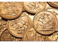 WANTED GOLD SOVEREIGNS CASH PAID