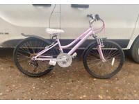 Girls Claud butler mountain bike 24'' wheels £60