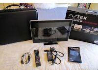 """AVTEX L185drs 18.5"""" Digital TV/DVD Combo, Built in Satellite decoder, 240v AC, 12v/24v DC"""