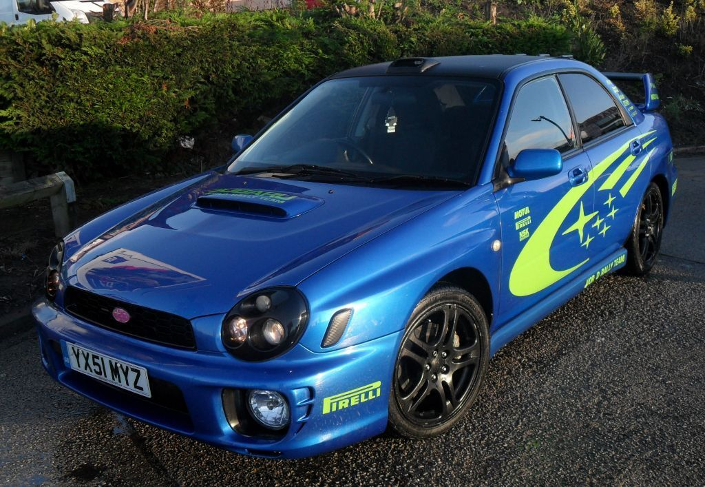 2002 subaru impreza wrx turbo version 7 bugeye sonic blue uk import jdm sti saloon evo. Black Bedroom Furniture Sets. Home Design Ideas