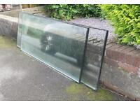 Two large double glazed panels - green house or propogator