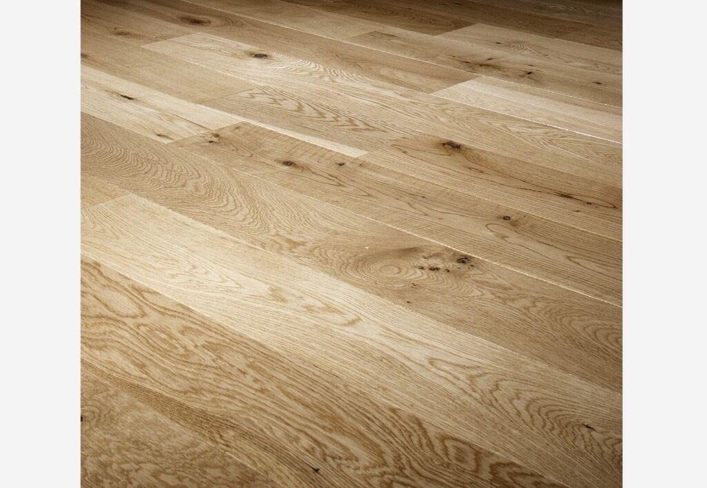 K2 Solid Oak Rustic Laquered Floor 18x125mm 2.2m2 x 7 Packs ...