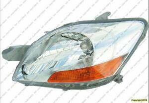 Head Light Driver Side Sedan Toyota Yaris 2007-2012