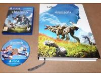 Horizon Zero Dawn Collectors edition hard cover game book and PS4 game