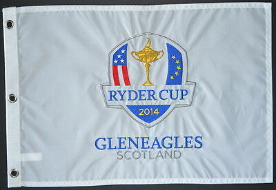 2014 OFFICIAL Ryder Cup (Gleneagles) EMBROIDERED Golf FLAG