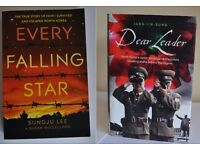 North Korea book combo- EVERY FALLING STAR (SUNGJU LEE) & DEAR LEADER (JANG JIN-SUNG) *Great cond*