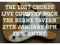 Live country rock with the Lost Chords @ the Herne Tavern