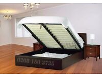 MASSIVE SAVINGS *** BRAND NEW DOUBLE LEATHER STORAGE BED FRAME WITH SEMI ORTHOPEDIC MATTRESS