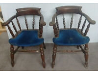 A Antique Chair Restoration Project 4 Heavy Smokers Bow Chairs (in Blue)
