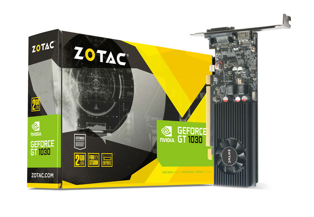 ZOTAC GeForce® GT 1030 2GB GDDR5 Low Profile Graphics Card